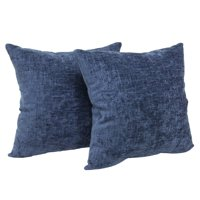"""Mainstays, Chenille Decorative Pillow, 18"""" x 18"""", Navy, 2 Pack"""