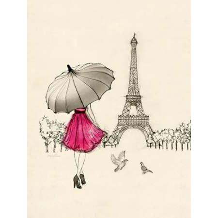 Sketching a Parisian Memory Poster Print by Morgan Yamada (Parisian Decor)