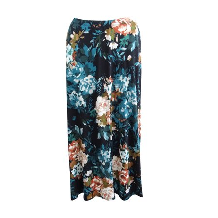 NY Collection Women's Petite A-Line Printed Skirt