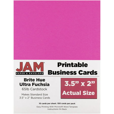 - JAM Paper Printable Business Cards, 3 1/2