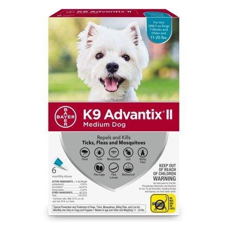 Advantix Dog Control Flea Treatment (K9 Advantix II Flea and Tick Treatment for Medium Dogs, 6 Monthly)