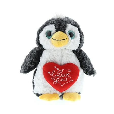 Super Soft Plush Dollibu Penguin  I Love You Valentines Plush ()