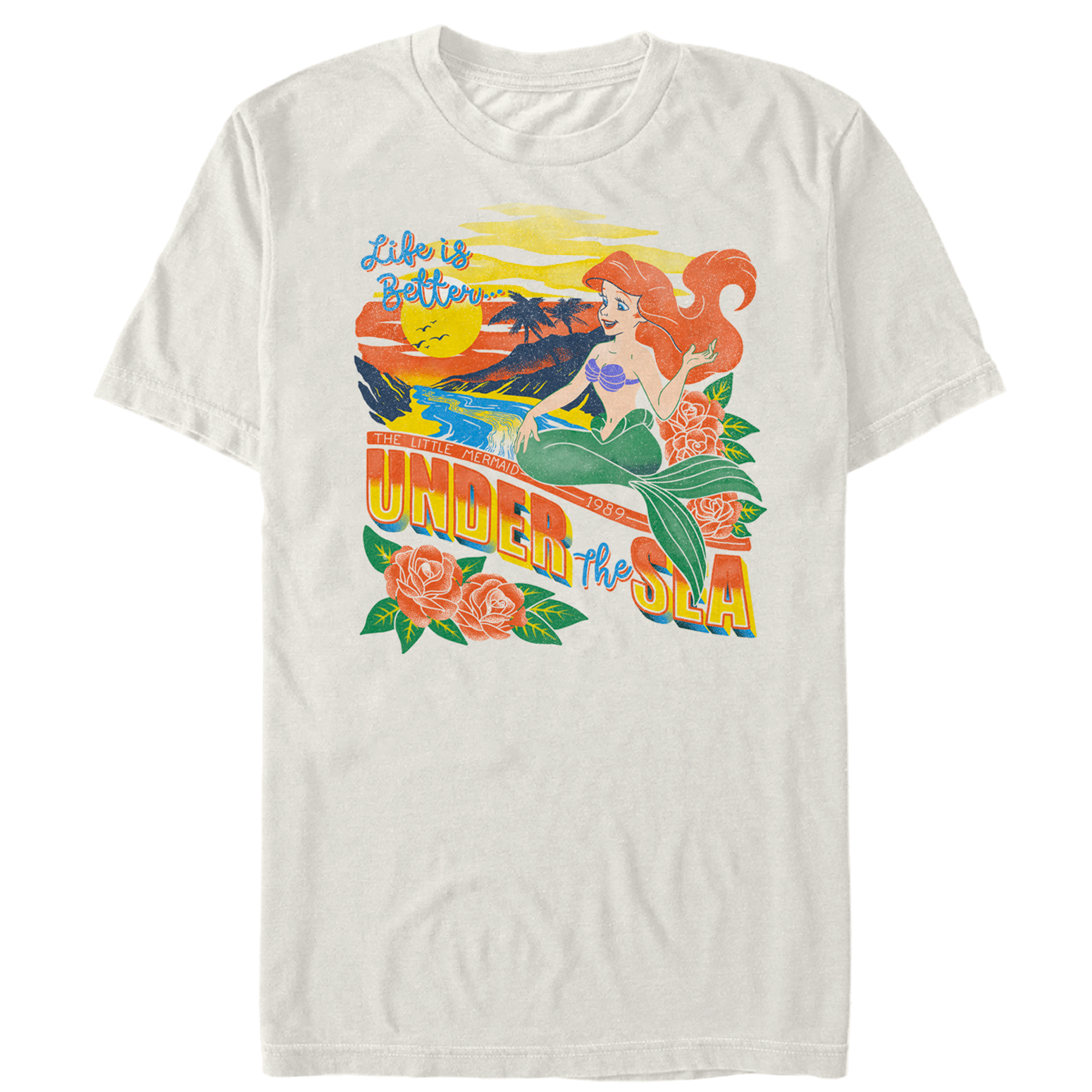 The Little Mermaid Men's Tropical Life T-Shirt