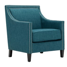 Excellent Cambridge Bridgehampton Accent Chair With Nailhead Trim In Teal Onthecornerstone Fun Painted Chair Ideas Images Onthecornerstoneorg