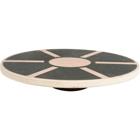 Trademark Innovations Wood Balance Board, Wobble Balance Trainer, 15.5