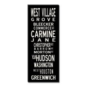 Uptown Artworks West Village by Uptown Artworks Framed Textual Art on Wrapped Canvas