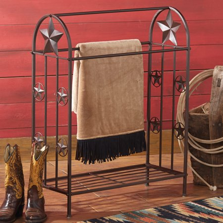Metal Lone Star Rustic Quilt Rack Southwestern Furniture