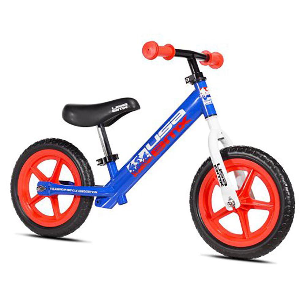 KaZAM USA BMX 12 Inch Balance 2 Wheel Bike with Tool Free Setup, Blue and Red