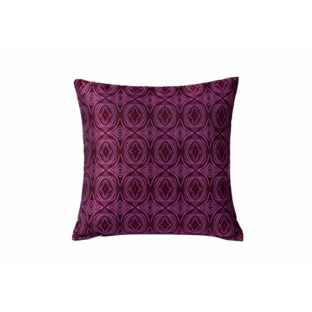 427A01-Varaluz Lighting-Pinkadelic - 18 Square Throw Pillow  Pink/Purple/Black Finish