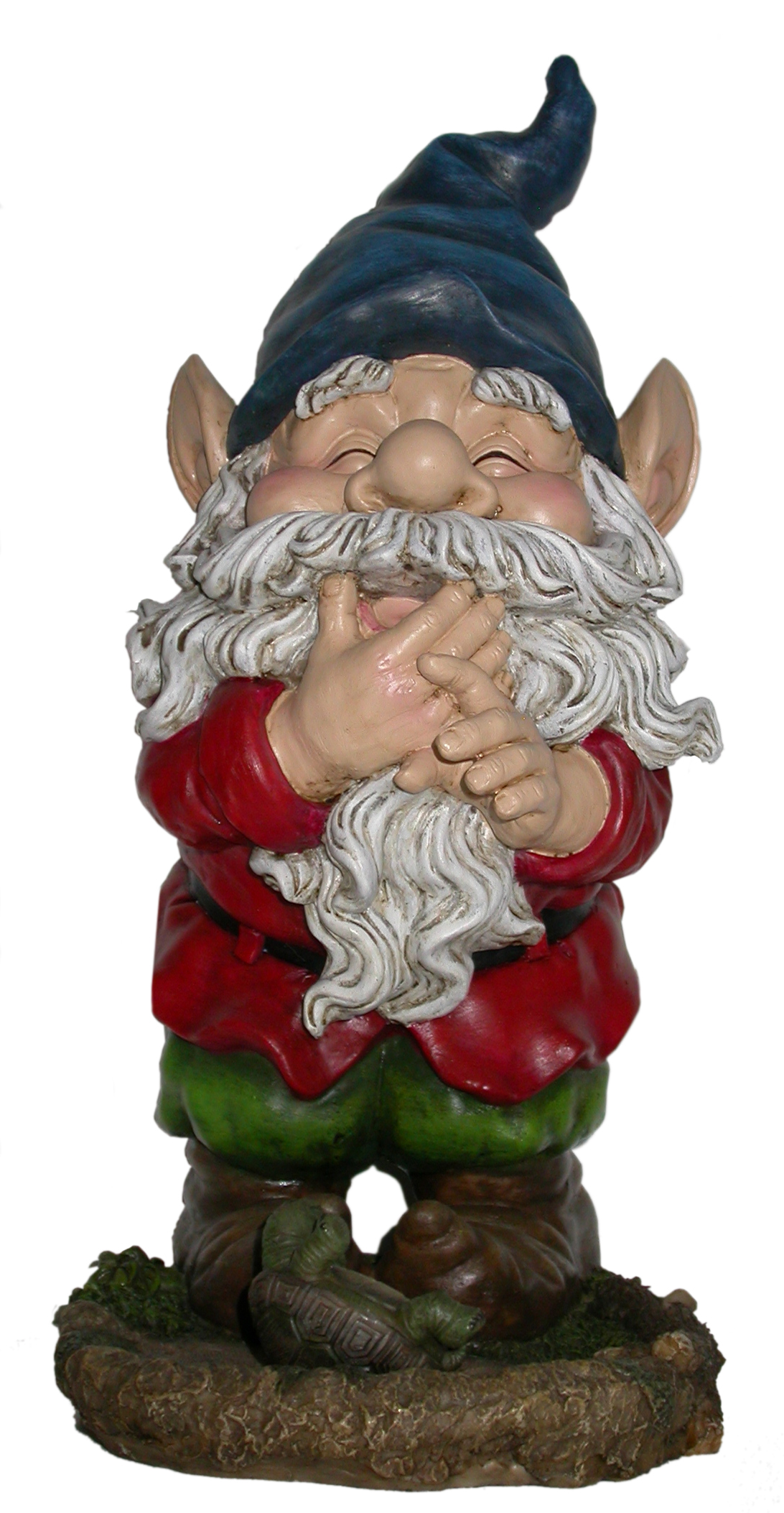 15 Inch Smiling Gnome Statuary by Benzara