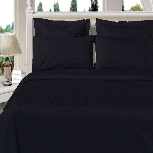 Luxury Sateen Stripe Pattern Super Soft 100% Microfiber Sheet sets Wrinkle-free Stain Set