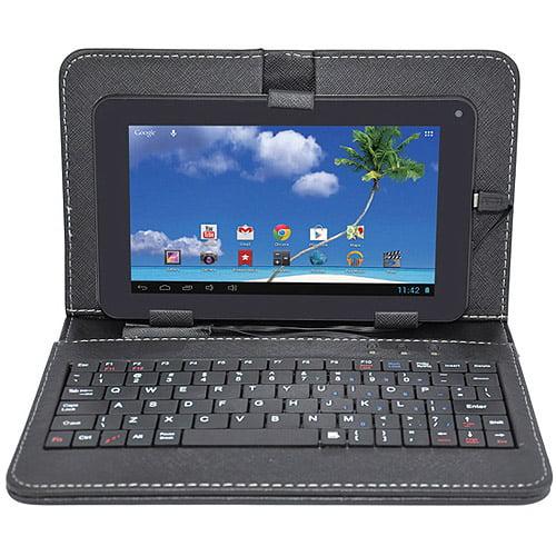 "Proscan 7"" Tablet 8GB Memory Bonus Keyboard & Case, Black"