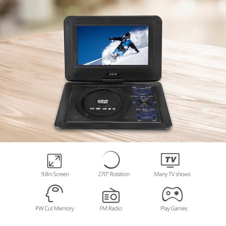 Zerone 9 8in 3D Stereo Portable DVD Player Game Playing Hundreds of TV  Channels HD DVD Player, DVD Multimedia Player
