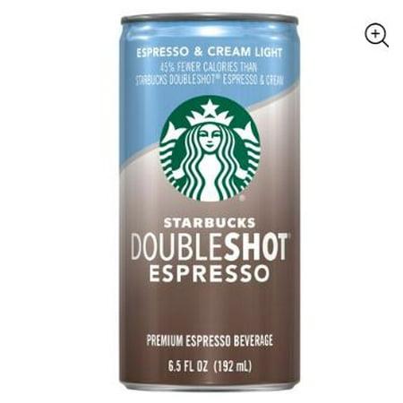 (12 Cans) Starbucks Doubleshot Espresso & Cream Light, 6.5 Fl Oz