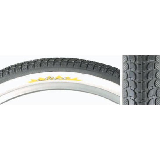 "Sunlite K927 Cruiser Sun 24x2.125"" Tire Black/White Wire Bead"