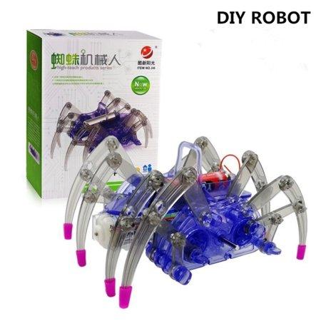 DIY Kids Assemble Intelligent Electric Spider Robot Puzzle Toy ()