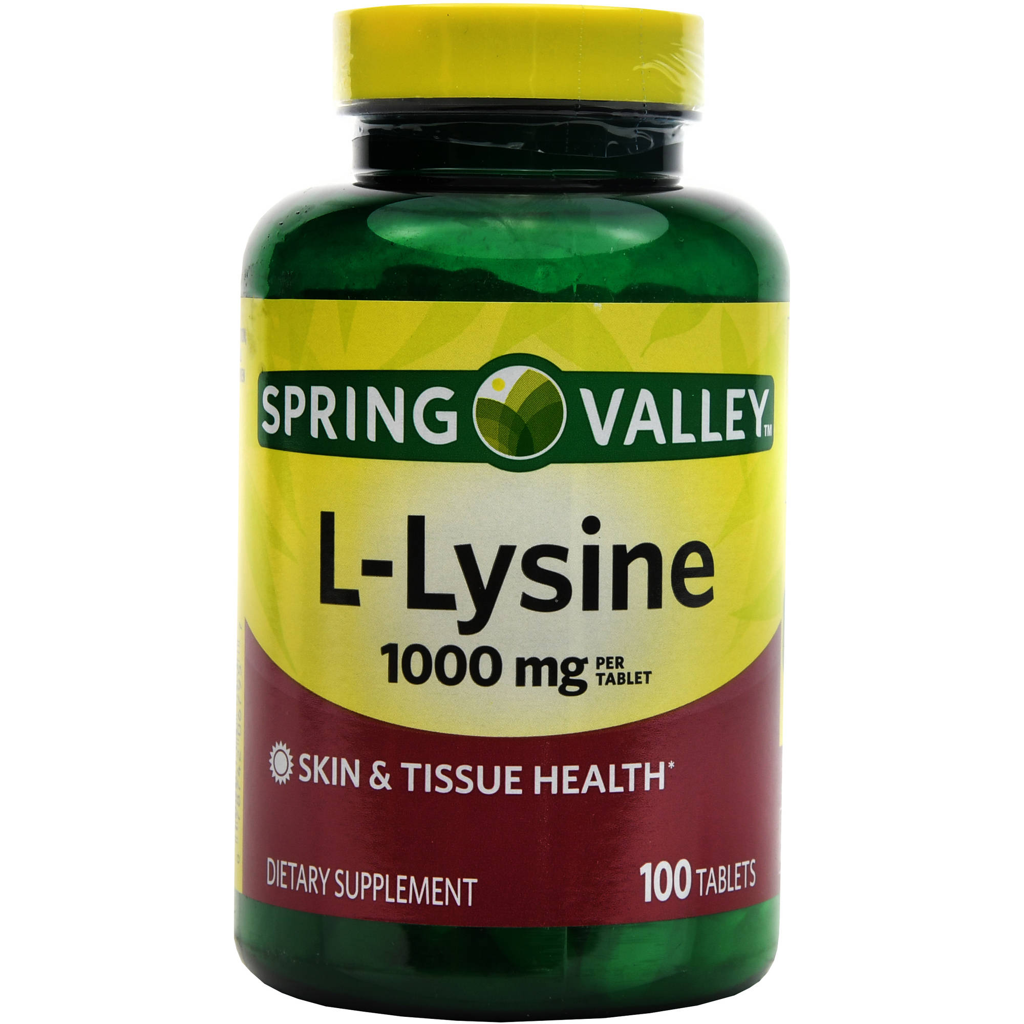 Spring Valley L-Lysine Tablets, 1000 mg, 100 count