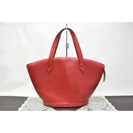 Saint Jacques Epi Castillian Pm Zip Tote 868150 Red Leather Shoulder Bag