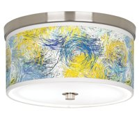 """Giclee Gallery Starry Dawn Giclee Nickel 10 1/4"""" Wide Ceiling Light"""
