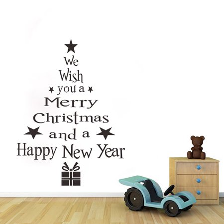 Tailored Christmas Tree Letters Stick Wall Art Decal Mural Home Room D