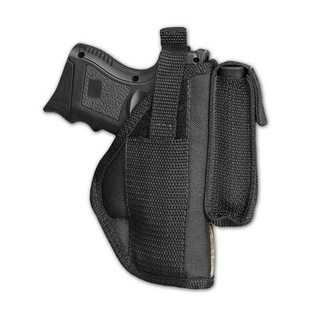 Barsony Right OWB w/ Magazine Pouch Holster Size 18 Bersa CZ Kahr Walther Sig Ruger Compact 9 40