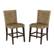 A Line Furniture Montgomery Rattan Woven Counter height Stools (Set of 2)