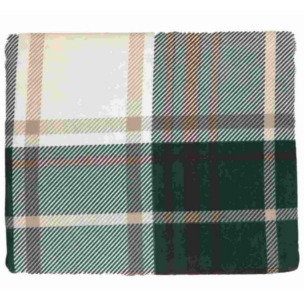 Hd Heavyweight Green Beige Plaid Flannel Sheet Set Full Bed Sheets Bedding Walmart Com Walmart Com