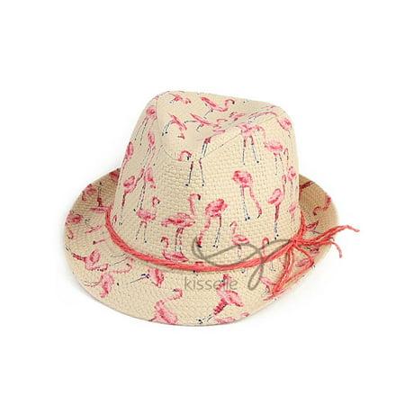 Cute Flamingo Printing Hat Round Top Paper Cloth Cap Gift Ornament](Flamingo Ornaments)