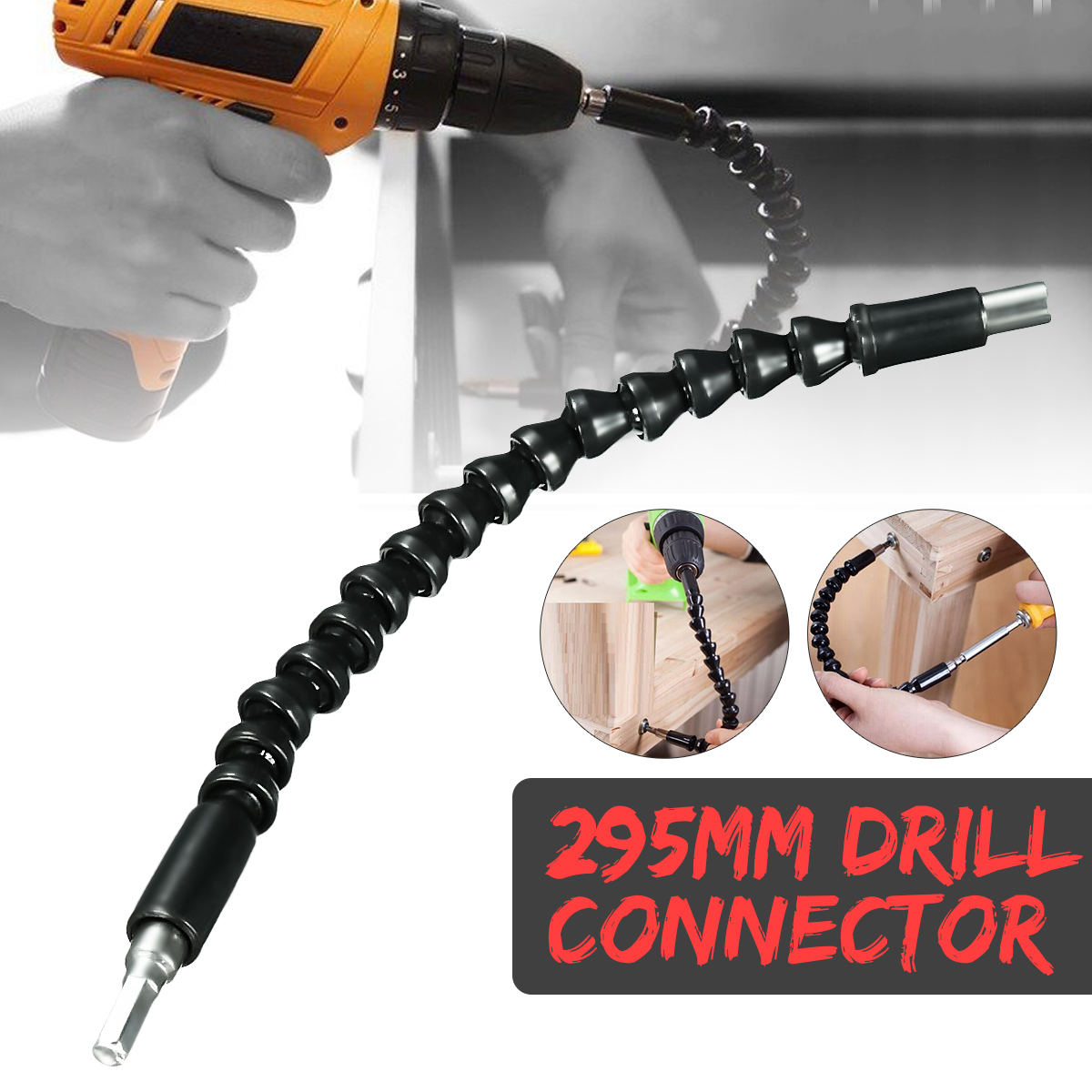 295MM Flexible Shaft Extension Screwdriver Drill Bit Holder Link for Electronic Drill