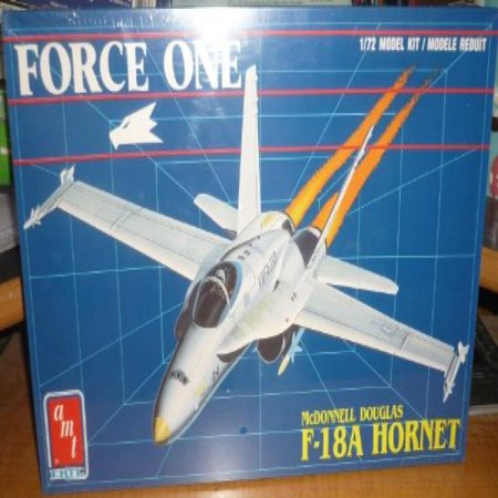 (#8697 AMT Curtiss Force One Mcdonnell Douglas F-18a Hornet 1/72 Scale Plastic Model Kit ,Needs Assembly)