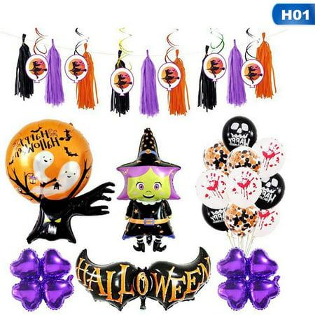 KABOER Halloween Balloon Set Holiday Celebration Party Supplies Decorative Balloons - Celebration Fl Halloween Party