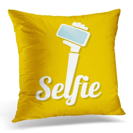 EREHome White Selfi Taking Selfie on Smart Phone Concept Take Pillows case 18x18 Inches Home Decor Sofa Cushion Cover - image 1 de 1