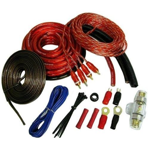 Soundquest Sqk4 Copper-clad Aluminum Wiring Kit [4 Gauge]