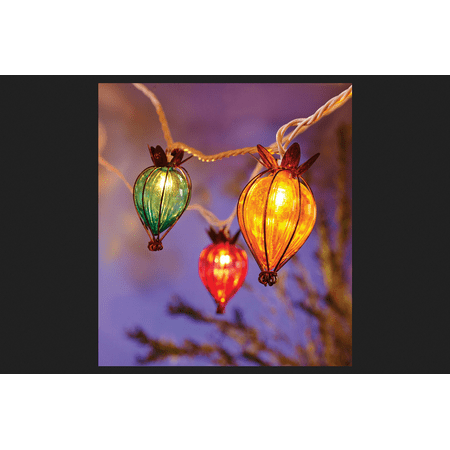 Living Accents 7.5 ft. L Multicolored Teardrop Globe Light Set (Paper Globe Lights)