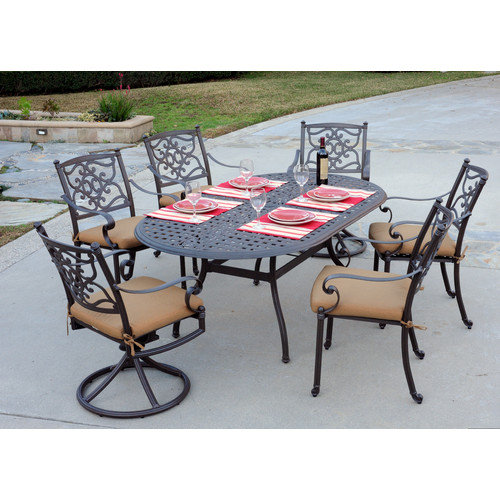 Meadow Decor Kingston 7 Piece Dining Set
