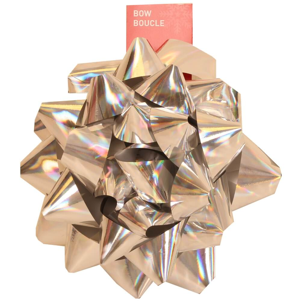 JAM Paper Gift Bows - Extra Large - 9 Diameter - Silver - 12/pack
