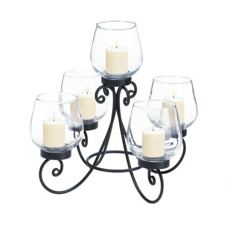 Table Centerpiece Candle, Enlightened Iron Modern Tabletop Candle Holder Decor - Light Up Table Centerpieces