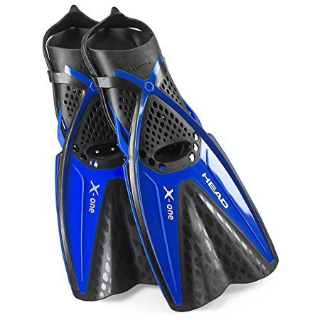 Head X-One Snorkel Fin, Mares Self Adjust Buckle Free Snorkeling Swim Fins ()