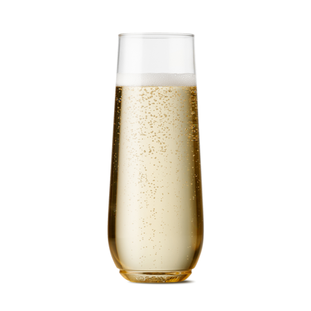 TOSSWARE Clear Plastic Flute Champagne Glasses, 9 oz, 48 Count for $<!---->