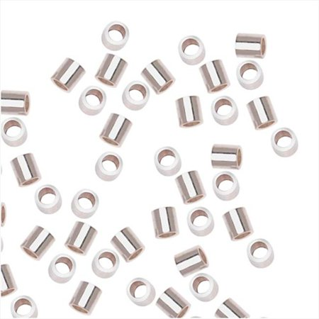 Sterling Silver Crimp Beads - Sterling Silver Crimp Beads 2 x 2mm (20)