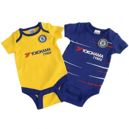 Chelsea FC - Cute Baby Onesies 2 pack Blue/Yellow - Cheap Cute Onesies