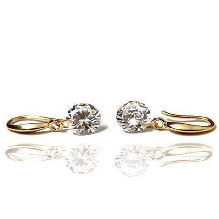 Naked IOBI Crystals Drill Earrings in Yellow Gold, Rose Gold, or Silver - Choose Your Color 18K Yellow Gold / 8mm
