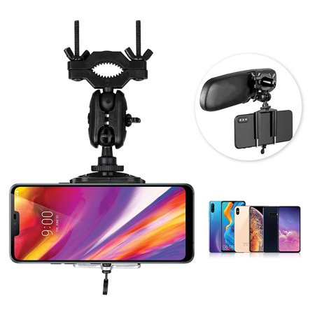 - EEEKit Car Mount, Universal Car Rearview Mirror Mount Truck Auto Cell Phone Holder Stand Compatible with iPhone Xs Xr Xs Max X 8 Plus, Samsung Galaxy S10 S9 S8, Google Nexus, GPS, PDA and More