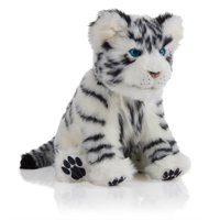 Alive Cubs - Interactive Plush Cub - White Tiger Cub By WowWee