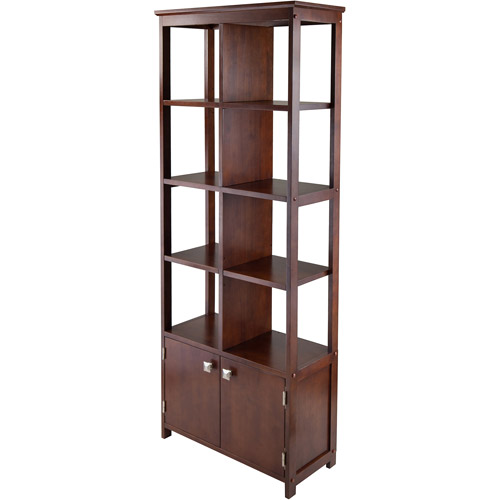 Oscar Cabinet with Display Shelves, Walnut