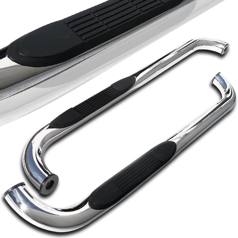 Spec-D Tuning 1998-2011 Ford Ranger Super Cab Side Step Nerf Bar S/S Running Boards Chrome 98 99 00 01 02 03 04 05 06 07 08 09 10 11 (Left + Right)