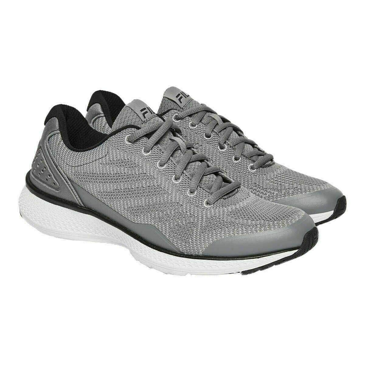 Fila Men's Memory Foam Athletic Running Shoes Grey or Black (GreyBlack, 12 M US)