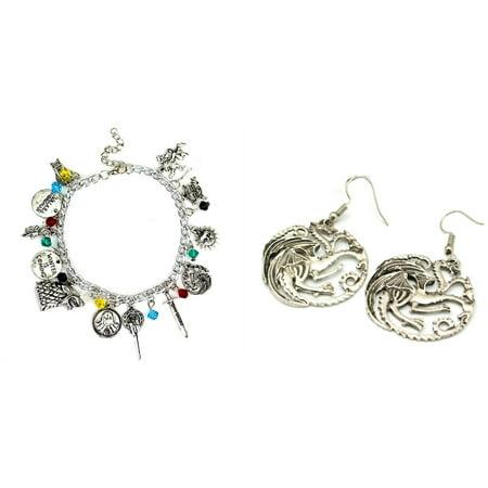 Game of Thrones 2-Pack Bracelet & Earrings in Gift Box by Superheroes ()
