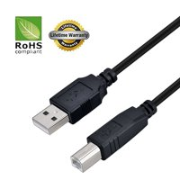 USB 2.0 Cable - A-Male to B-Male for Silhouette Cameo Electronic Cutting Tool Machine (Specific Models Only) - 10 FT/10 PACK/BLACK