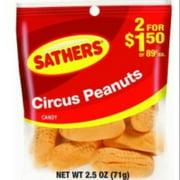 Sathers Circus Peanuts 12 pack (2.5oz per pack) (Pack of 2)